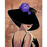 yiyitop Poster Frau rote Lippen Wand ölgemälde Bild Druck auf leinwand Idee kreative Dekoration Moderne Kunst Bild ohne Rahmen