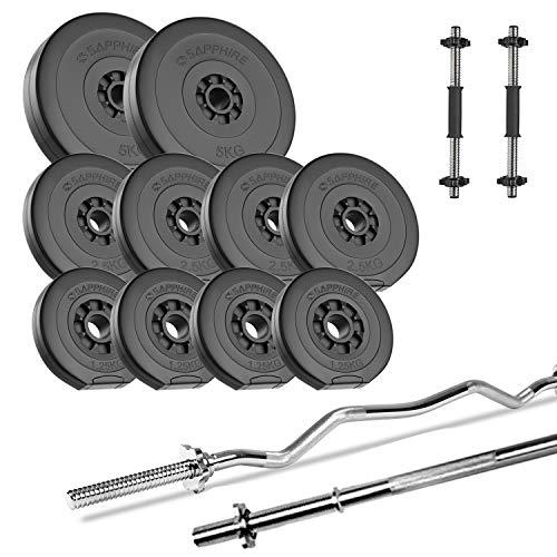 Xylo Hantel Set 40 KG Langhantelstange 120 cm Super/Sz-Curlstange Kurz Hanteln Gewichte Homegym,Training, NEU (SZ - Curlstange 120/ 25mm)