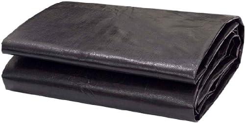 Bache rembourrée Noire Bache imperméable pour Huile Option Multi-Taille de crêpe de Toile de Store en Plastique