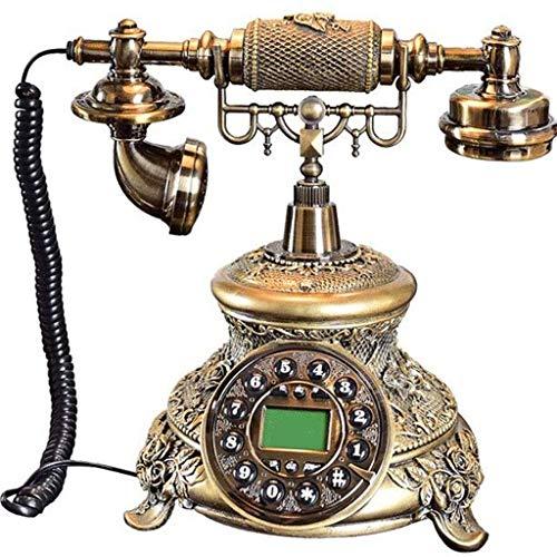 YUTRD Teléfono - Rotary inalámbrico Teléfono de la antigüedad, el teléfono casero Retro del teléfono inalámbrico Moda Rotary de la Vendimia for la decoración del hogar