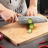 Santokumesser 7 zoll, Japanisch Sushi Messer, Kochmesser Küchenmesser deutschem Messerstahl mit ergonomischem Griff mit Geschenkbox für Haus, Restaurant - 4