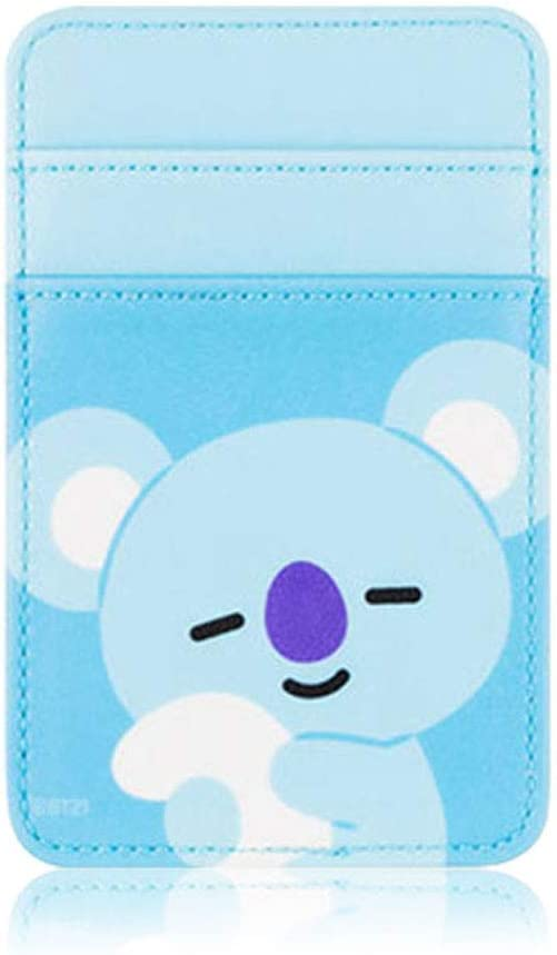 BT21 Official Newest Merchandise, Phone Card Pocket, Sleeve, Pouch, Compatible with Most of Smartphones (KOYA)