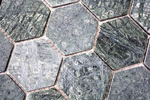 Mozaïek tegel marmer natuursteen Hexagon marmer groen MOS44-0210_m