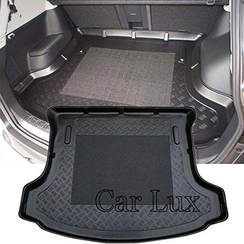 Car Lux AR01207 - Alfombra Cubeta Protector cubre maletero a medida para Qashqai+2 desde 2008- con antideslizante