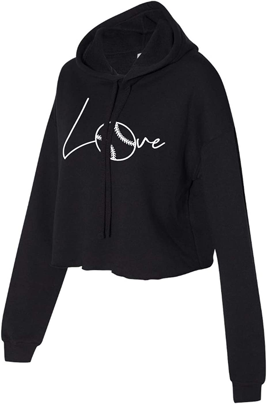 Love Softball Cropped Hoodie for Athletic Teen Girl