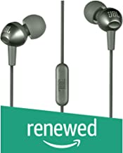 (Renewed) JBL C200SI in-Ear Headphones with Mic (Gun Metal)