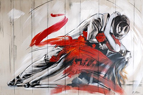 Modernes Gemälde - Tango Argentino - Acrylgemälde - Bild Tanzpaar - Martin Klein - Tangopärchen Gemalt - Wandbild Tango - Kunst online kaufen - Tango Gemälde