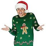 Lebhafter Lebkuchenmann Weihnachtspullover