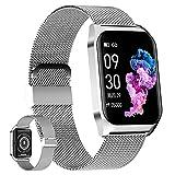 HQPCAHL Smartwatch Deportivo con Llamadas Bluetooth, Reloj Inteligente Impermeable IP67, Pulsera Actividad con Monitor De Sueño, Ritmo Cardíaco, Notificación De Mensaje para Android E iOS,B