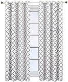 Royal Hotel Meridian White Grommet Room Darkening Window Curtain Panels, Pair/Set of 2 Panels, 52x84 inches Each
