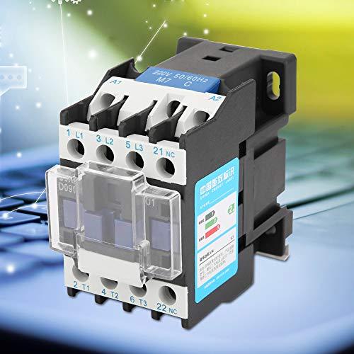 Contator AC, CJX2-0901 Contator AC, Confiável Durável Industrial 220V Alta Sensibilidade para Aplicações de Energia de Instalação Elétrica