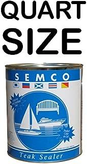 New Semco Teak Wood Natural Finish Sealant Protector Sealer (Quart)