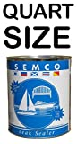New Semco Teak Wood Clear Tone Finish Sealant Protector Sealer (Quart)