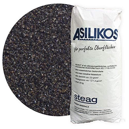25 kg Asilikos Aluminiumschlacke Strahlmittel 0,2-0,5 mm von Schicker Mineral für effektives Sandstrahlen