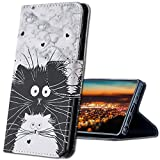 MRSTER Xiaomi Mi A3 Hülle Leder, Langlebig Leichtes Klassisches Design Flip Wallet Hülle PU-Leder Schutzhülle Brieftasche Handyhülle für Xiaomi Mi A3 / Mi CC9e. HX Cute Totoro