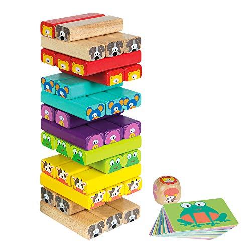 WOOMAX - Construcciones para niños torre de madera 52 pieza