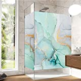 J4U Window Privacy Film No Glue Static Window Cling Marble Decorative Window Sticker Frosted Window Decals for Home/Office 34.6'x78.74'(88x200cm)