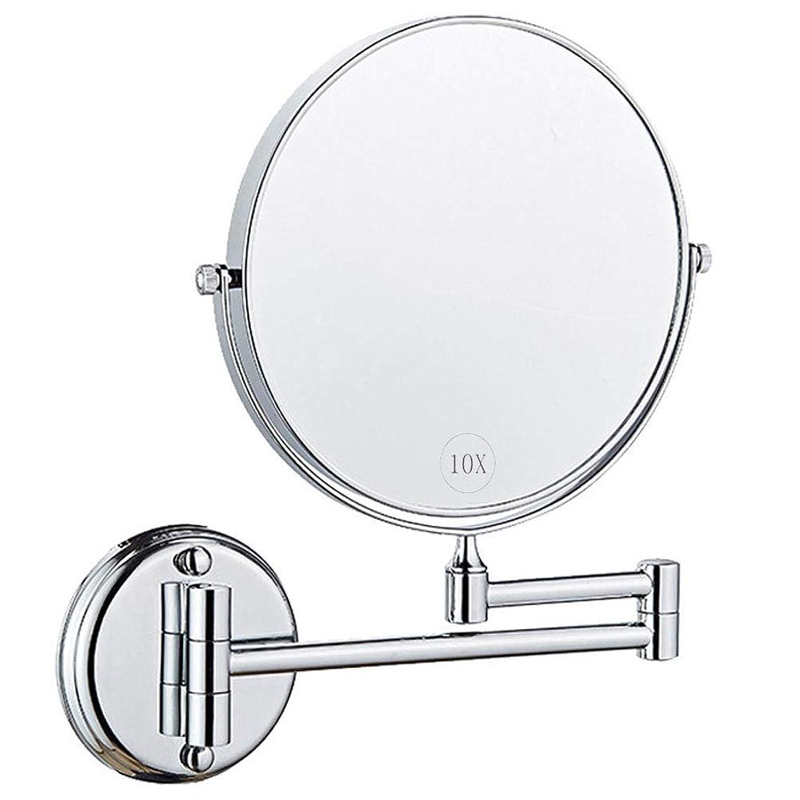 予報葉っぱアラブサラボウォールマウントメイクアップミラー、拡大鏡付き8インチ両面回転バニティミラー、拡張可能な化粧品またはバスルームホテルのベッドルーム