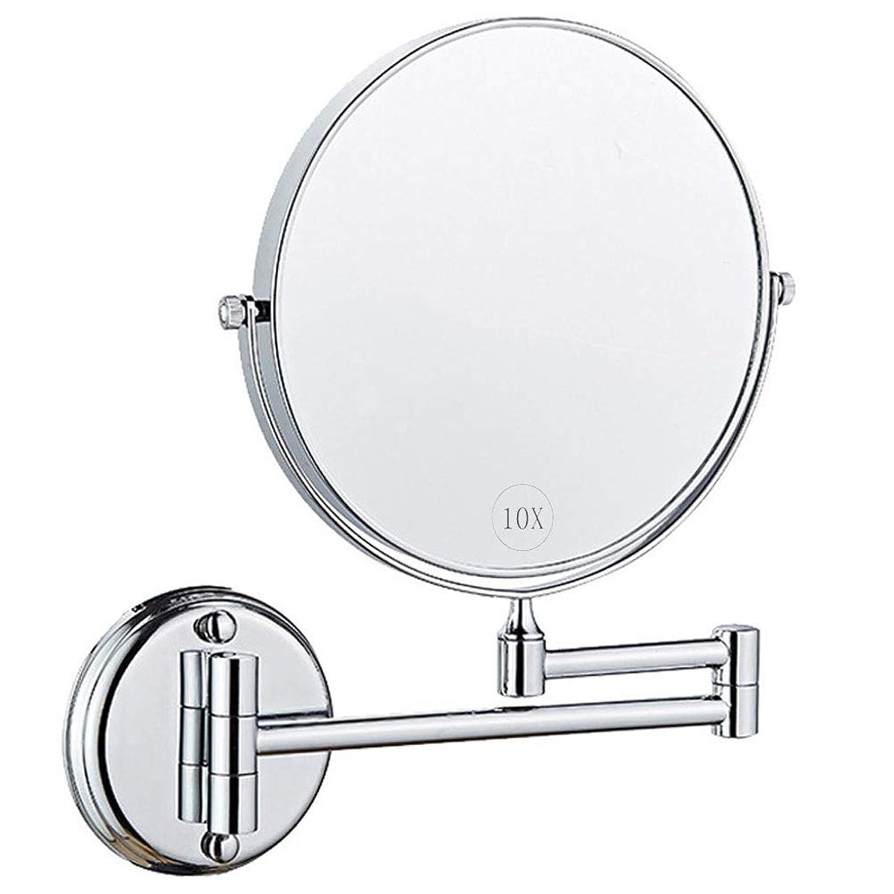 退屈なしてはいけませんモジュールウォールマウントメイクアップミラー、拡大鏡付き8インチ両面回転バニティミラー、拡張可能な化粧品またはバスルームホテルのベッドルーム