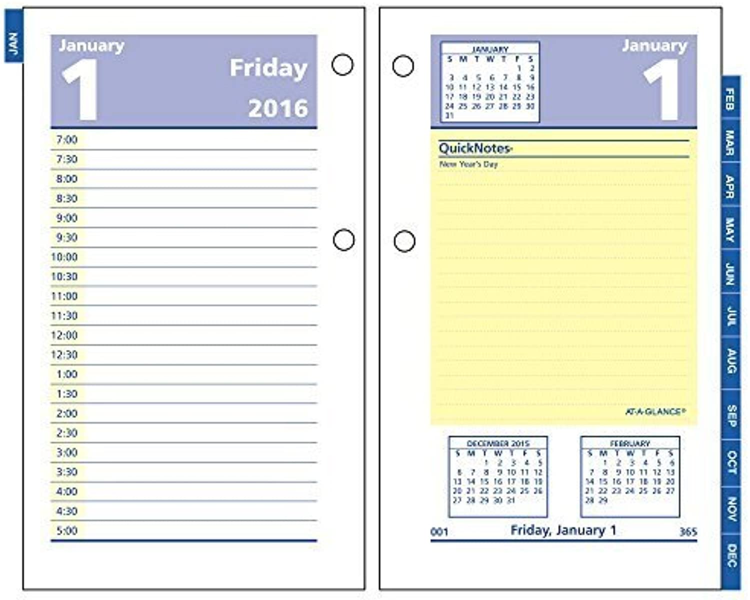 AT-A-GLANCE Daily Desk Calendar 2016 Refill, Quick Notes, 12 Months, 3.5 x 6 Inch Page Größe (E51750) by At-A-Glance B018REIFRU | Verschiedene Arten und Stile