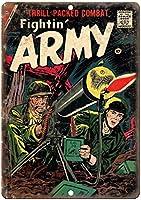 Fightin' Army September Comic 金属板ブリキ看板警告サイン注意サイン表示パネル情報サイン金属安全サイン