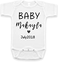 BlueSkyCreations Personalized Baby Onesie - Baby Onesie Announcement - Pregnancy Announcement - Onesie Baby