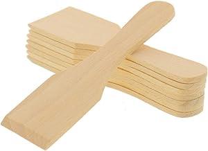 2 x 8 raclettes HOFMEISTER® en bois de 13 cm - Protège les poêlons à raclette enduits - Spatule à raclette résistante à la...