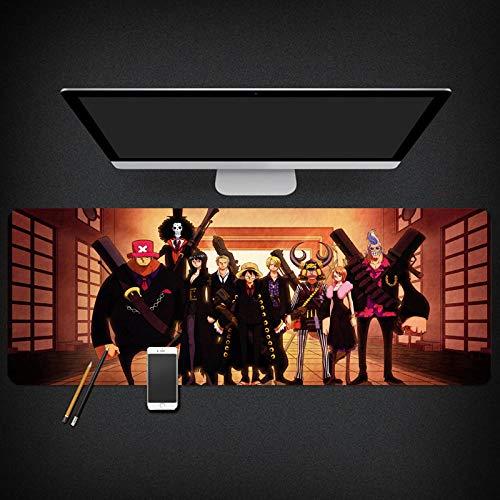 yinying Alfombrilla de ratón para Juegos,Alfombrilla de ratón Anime de una Pieza Alfombrilla de ratón Luffy Sauron-Tipo J_400x900 mm_3 mm