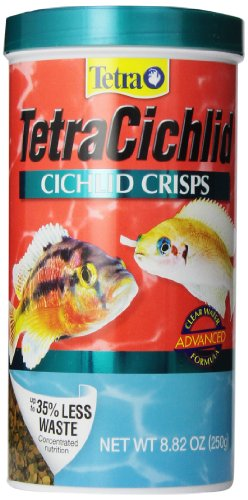 TetraCichlid Cichlid Crisps 8.82 Ounces, Fish Food, Clear Water Advanced Formula