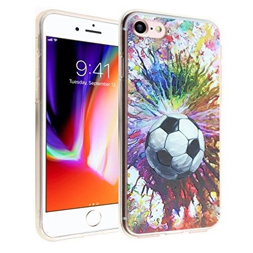 iPhone 7 8 CASEMPIRE Soccer Ball Paint Splash Arts TPU Case Shock Proof Never Fade Slim Fit Cover for Apple iPhone 7 8 - Soccer Ball 7 8 TPU