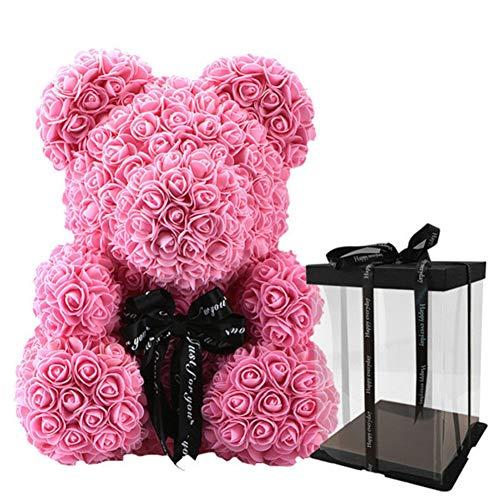 Artbro Rosa Oso Espuma Artificial Flor Muñeca Cumpleaños Romántico