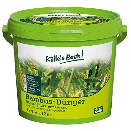 Kölle\'s Beste! Bambusdünger für satt güne und dichte Bätter, praktisches Granulat, hochwertiger Guano Dünger, für Garten und Kübel im Frühjahr, 1 kg
