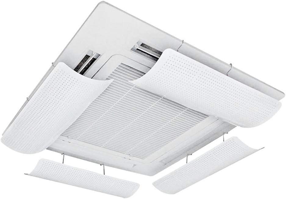 Deflector de Aire Acondicionado para Aire Acondicionado Central ABS Ligero y Flexible y Blando Guía de Viento Microporosa Evita que el Aire Sople Recto Instalación Simple(una Pieza) (58cm)