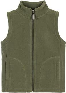 OCHENTA Boys Soft Warm Zipper Polar Fleece Vest
