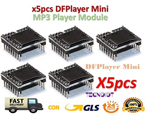 5 Stück DFPlayer Mini MP3 Player Module MP3 Voice Module TF Card und USB Disk Anschluss 5 Stück DFPlayer Mini MP3-Player Modul MP3 Sprachmodul TF-Karte und USB-Laufwerk