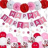 Wang Guozhang Geburtstags-Flagge-Hebeballon-Anordnung Aluminiumfilm Latex mit Kindertag Party Jubiläumsdekoration Ballonsatz (Color : 2)
