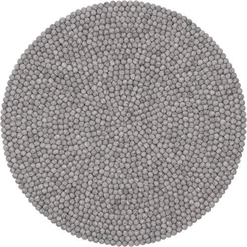 myfelt Filzkugelteppich Carl - 90 cm