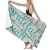Premium Badetücher Handtücher für Zuhause, Hotel, Spa, Strand - Beginnen Sie jeden Tag mit einem dankbaren Herzen Holzschilder Handtücher, ultraweiche Dusche und Badetuch Extra große Badeschalen mit h