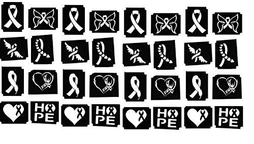 BRUST KREBS BEWUSSTSEIN SAMMLUNG (Brustkrebs Körpe Tattoo Schablonen C2)