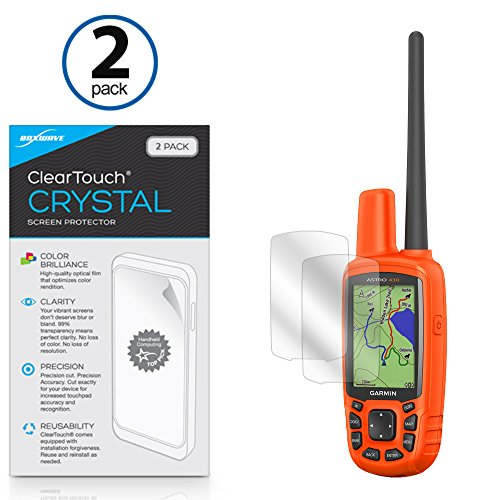 BoxWave Garmin Astro 430 Screen Protector, [ClearTouch Crystal (2-Pack)] HD Film Skin - Shields from Scratches for Garmin Astro 430