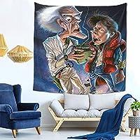 バック トゥ ザ フューチャー (2) ファッション多機能タペストリー家庭飾りタペストリー、軽くて、柔らかくて、丈夫で、洗いやすいです。寮の装飾、内室、ピクニック用の布、廊下の掛け物、テーブルクロス、ベッドカバーなど