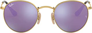 Ray-Ban Rb3447n Flat Lens Metal Round Sunglasses