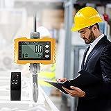 TTLIFE Échelle De Grue 1000kg / 2000lbs Balance Industrielle Numérique Robuste Balance Électronique De Grue Intelligente De Haute Précision (Jaune)