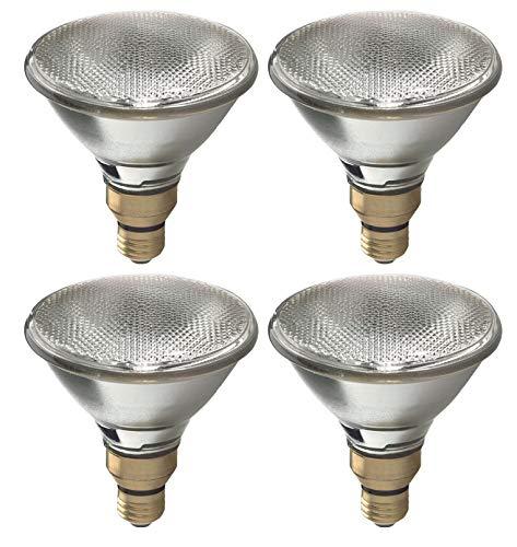 GE Halogen Light Bulb, Energy Efficient PAR38 Flood Light Bulb, 38-Watt, 520 Lumen, Medium Base, Indoor and Outdoor Flood Light Bulb (4 Bulbs)