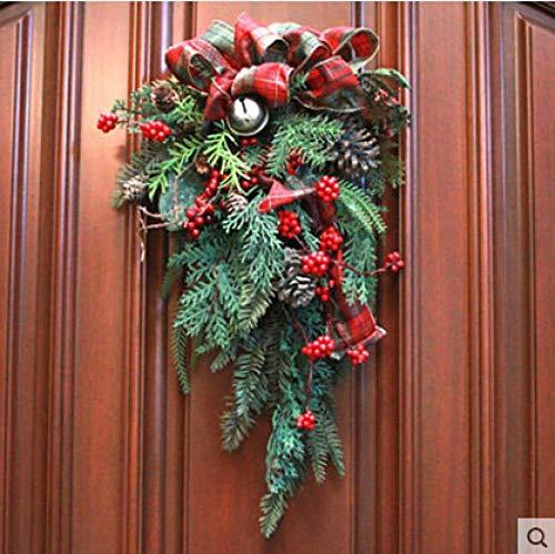 Amerikanische handgemachte Weihnachtsdekorationen, kreative Weihnachtsrattangirlande, 65cm Hotelmall umgedrehter Baumplan
