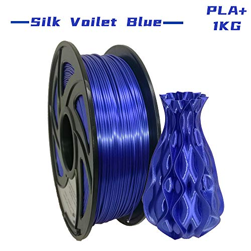 LEE FUNG PLA Plus(PLA+) 3D Printer Filament 1.75mm 2.2lbs with Spool(Silk Viiolet Blue)