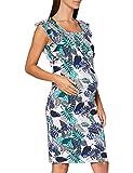 Noppies Damen Dress Nurs Ss AOP Cathleen Kleid, Mehrfarbig (Chalk Pink P432), 38 (Herstellergröße: M)