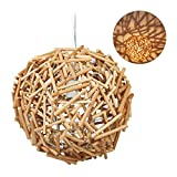 Relaxdays 10028380 Lampe Suspension, Fait Main, Branches, Salle à Manger, Salon, E27, Bois flotté, HxD:143x42cm, Nature, métal, 1