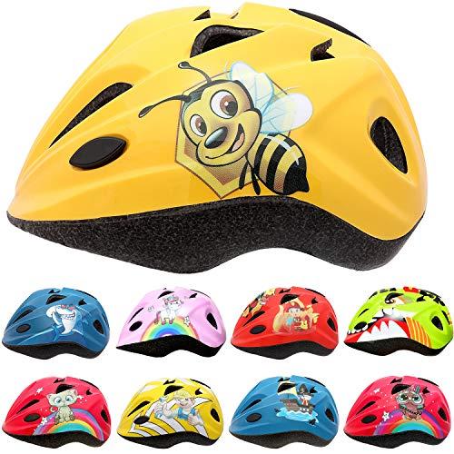 SkullCap Casco da Bicicletta per Bambini Brogettato da Bambini e Creato da Professionisti, M (52-56 cm), Ape Miele