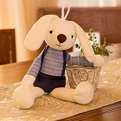 Conejo Peluche Juguete pequeño Conejo Blanco muñeca muñeca Muchacha Muchacha corazón niño Lindo pequeña muñeca,Azul,70cm